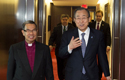 Tendero met Ban Ki-moon to discuss social issues and religious violence