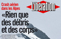Newspapers: Alps plane crash