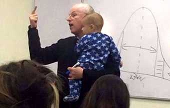 Teacher's response to his student's crying baby becomes viral