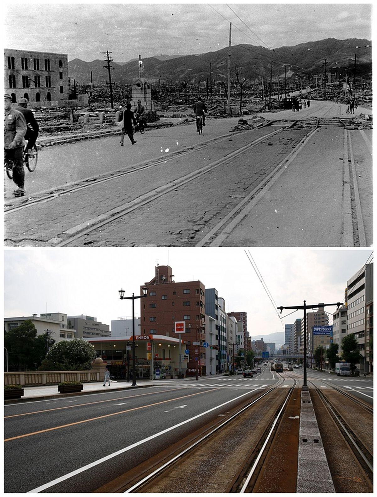 55c36297bce26_ResidentswalknearAioiBridgeinHiroshima,October1945,andthebridgetoday.rutersOK.jpg