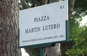 Luther square unveiled in Rome