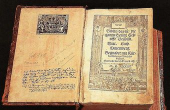 Luther Bible from 1634 found in police check