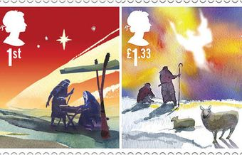UK Christmas stamps feature Nativity scenes