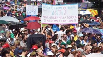 Italian evangelicals take part in massive pro-family demonstration