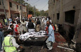 Bomb blast at Pakistan hospital kills at least 63