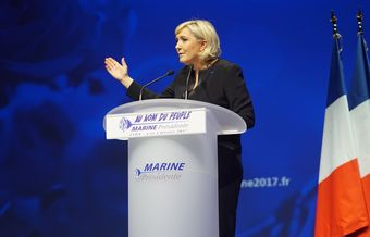 Far-right candidate Le Pen attacks EU and promises to put France first