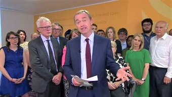 """LibDem leader resigns: """"Holding faithfully to the Bible's teaching has felt impossible"""""""