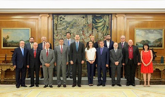 King and Queen of Spain received evangelicals at royal palace