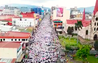 "Costa Rican Christians march for ""life and family"""