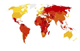 Two-thirds of countries face high levels of corruption