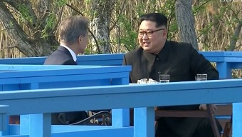 "Top South and North Korean leaders meet to discuss ""peace treaty"""