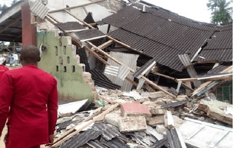 Church building collapses in Nigeria