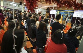 Protestants in Hong Kong wear black in support of Chinese Christians