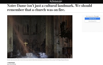 René Breuel in 'The Washington Post': Notre Dame and the place of faith in our culture