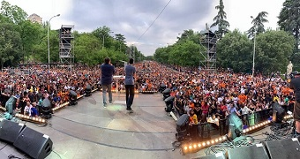 'Good news and good music': Tens of thousands attended FestiMadrid