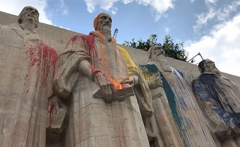 Reformation Wall in Geneva vandalised