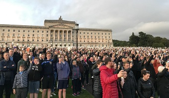20,000 walk in silence against drastic relaxation of abortion law in Northern Ireland
