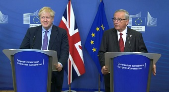 Juncker and Johnson announce a 'fair Brexit deal'