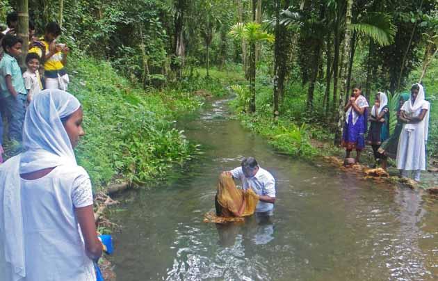 India, baptism, persecuted, rural