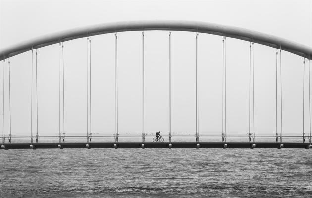 bridge black and white