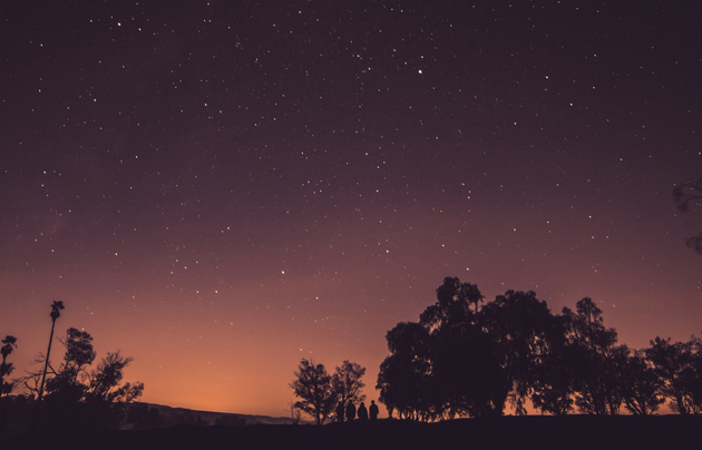sky, night, stars