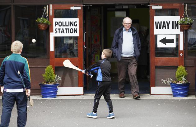 children, polling station