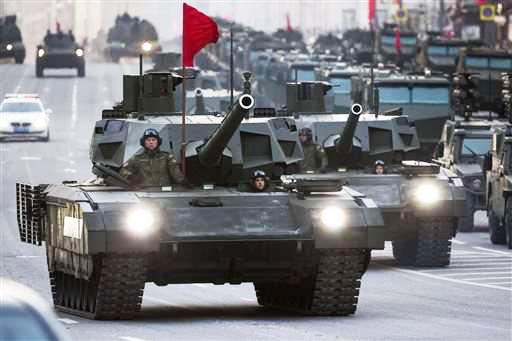Russian tanks, Putin