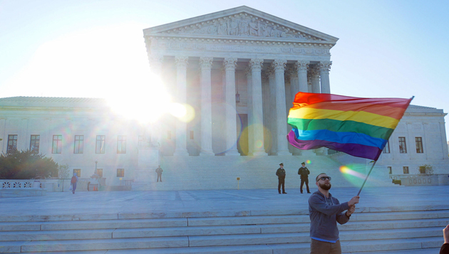 supreme court, flag, lgbt