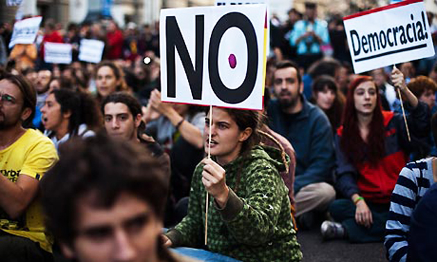 protesta, democracia, España