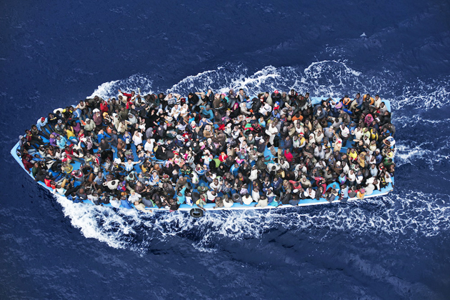 boat, sea, mediterranean, refugees