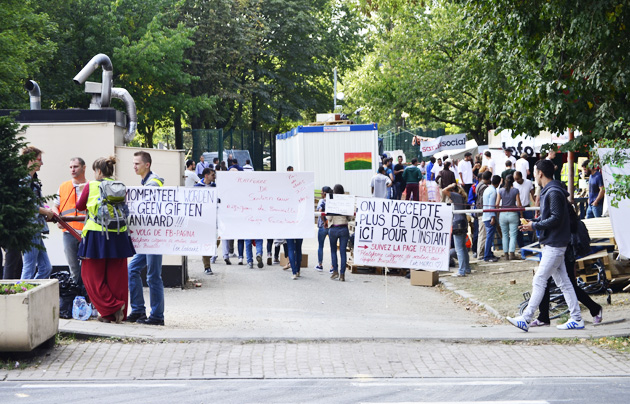 maximilien park, refugees, br
