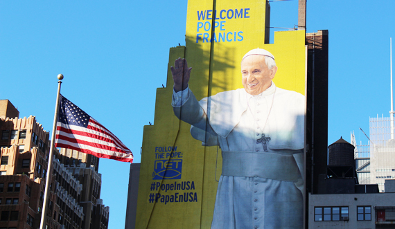 mural, pope francis, usa, 2015