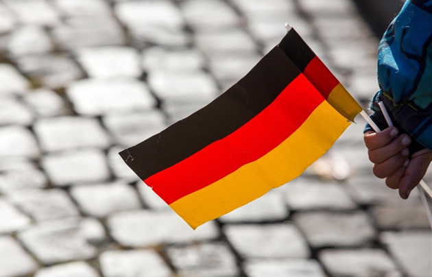 german flag, reunification, 25, 2015