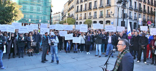 madrid, demonstration, persecuted church, evangelicals