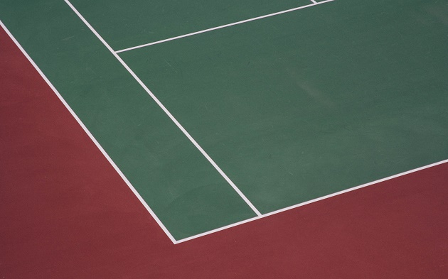 tennis court, hq, green, red