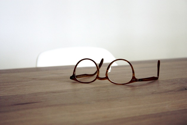 glasses, wood, writer