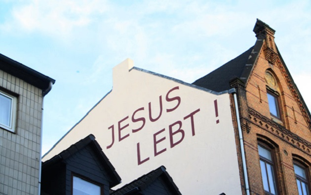 jesus lebt, jesus lives, germany, graffiti, jesus