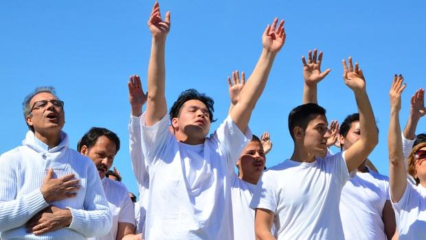 refugees, christians, baptism