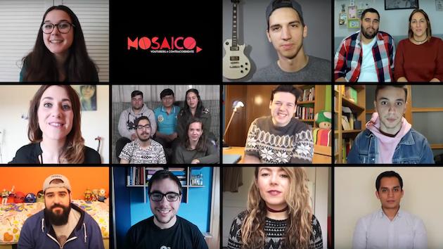 mosaico, youtubers