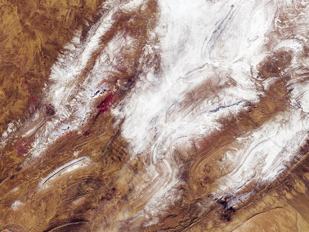 snow, sahara, desert